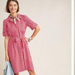 NWT Anthropologie Striped Shirtdress- M